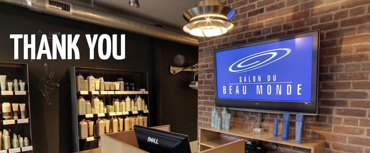 Thank you for A beau monde salon