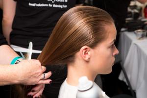 SS14 Stella McCartney for Adidas at London Fashion Week, hair by AVEDA.